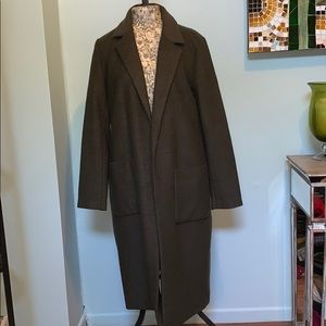 Forever 21 Long Pea Coat size large